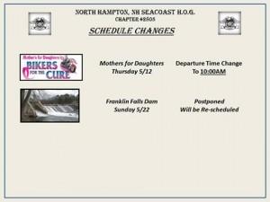 5 10 16 Schedule Change