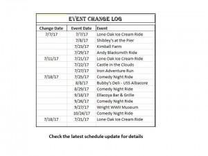 Event Change Log 07-18-17