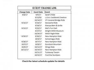 Event Change Log 10-13-17