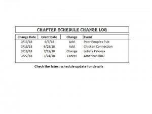 schedule Changes 03-22-2018