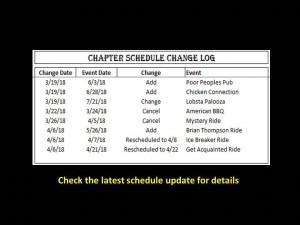 schedule Changes 04-05-2018