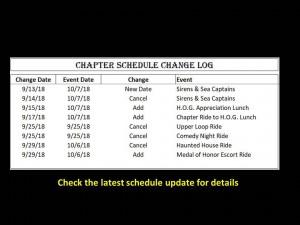 Event Change Log 09-29-18