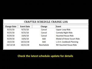 Event Change Log 10-14-18